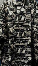 Espionage Black/Ecru Hawaiian Shirt KingSize 2xl3xl4xl5xl6xl7xl8xl