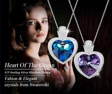 Halskette Titanic Herz Collier mit Swarovski® Kristallen Silber 18K Weißgold