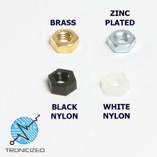 M3 Nuts OTTONE, Luminoso Zincato Bzp, in Plastica Nylon Dado DIN 934