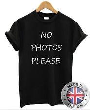 No Foto Please T-Shirt Celebrità Paparazzi da Donna Divertente Blogger Dope Moda