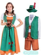 Traditional Bavarian German Leiderhosen Beer Maid Oktoberfest Couples Costume