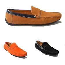 Hommes Allure Cuir Inspiration Créateur Mocassins À Enfiler Chaussures Sizes 6 7