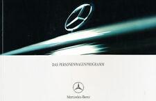 2001 Mercedes Benz Full Line German Sales Brochure Book