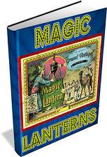 56 MAGIC LANTERN BOOKS ON DVD - antique projector, slides, optical lantern