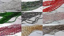 25-35-50 oblunghi Sfaccettate Cono In Vetro Tagliato Crystal Beads gioielli 13x6, 7 x 4, 16x8mm