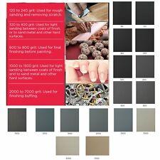 """MATADOR SANDPAPER Wet 5 1//2/""""x9/"""" 2500 Grit Premium Silicone Carbide Dry 10 pc"""