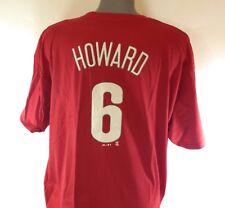 NEW Mens Majestic Philadelphia Phillies Ryan Howard #6 MLB Baseball Tee T-Shirt