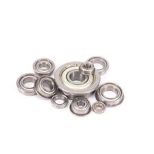 MF Miniature Flange Bearing ABEC1/ABEC3 Metal Shielded Metric Deep Groove