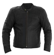 Rayven Spirit Leather CE Armour Motorbike Motorcycle Jacket S-5XL Foam back