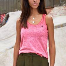 JAN 8017 Damen Bio-Baumwolle Tank Top T-Shirt COMPANIEER Tanktop Rot Flammgarn :