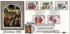 1982 Navidad Benham primer día cubierta Shs & nos Santa's Workshop Shs