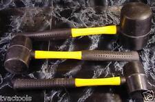 3pc RUBBER MALLET SET Big 32 oz Brand New Tool Fiberglass Handles soft hammer