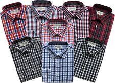 Mens Long Sleeve Regular Size Spring/Summer Check Shirts M to 2XL Cotton Blend