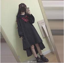 Sweet Lolita Kawaii Bow Long Sleeve Gothic Vintage Dress preppy style#NKK-10
