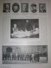 Printed photo Earl Cadogan medals for Field Hospital Corps Dublin Castle 1901