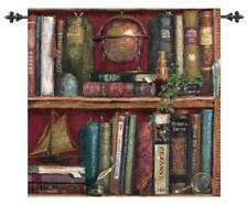 Top Shelf ~ Books on Shelf Tapestry Wall Hanging w/o Rods