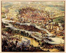 Old Austria Map - Vienna Austria Battle - Visscher 1683 - 23 x 28.22