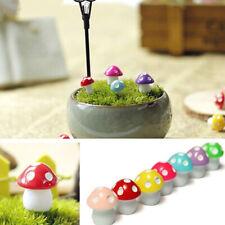 10pc/kit Mushroom Toadstool Miniature Fairy Garden Terrarium Figurine Decoration