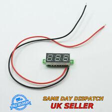 """2.5-30V DC 0.28"""" Voltmeter LED Two Wires 12V 24V Digital Display Voltage Meter"""