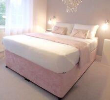 Elasticated Bed Valance Divan Base cover Bed wrap in  CRUSHED VELVET..