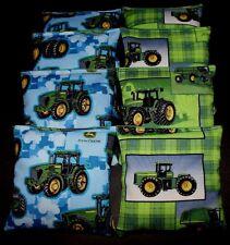 Camo farm Tractor made with John deere fabric ACA Regulation Corn Hole Game Bags
