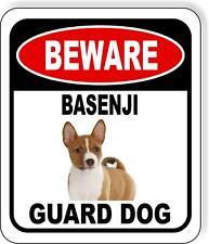 Beware Basenji Guard Dog Metal Aluminum Composite Sign