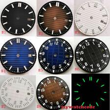 31.5mm sterile black coffee blue dial fit ETA 2824 2836 mingzhu 2813 mens watch