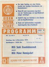 DDR-Liga 79/80 ZEPA acero Eisenhüttenstadt-BSG Motor hennigsdorf, 04.11.1979