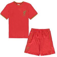 Liverpool FC Niños Pijama corto rojo 100% Algodón Set Pijama 5-13 AÑOS