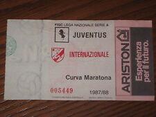 JUVENTUS INTER BIGLIETTO TICKET CALCIO 1987/88 SERIE A