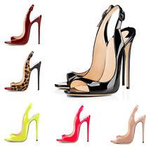 Onlymaker Women's Peep Toe Slingback Sandals High Heel Stiletto Pumps Dress Shoe