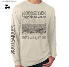 Official Woodstock T-Shirt / 1969 Woodstock Music Fest Long Sleeve Tee,Reissue!