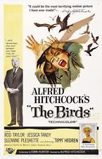 Les oiseaux hitchcock vintage movie poster affiche film A4 A3 art print cinema