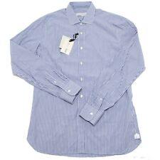 5733L camicia uomo MAURO GRIFONI righe blu manica lunga camicie shirts men