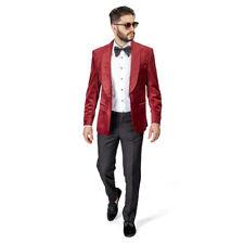 Shawl Lapel Velvet Tuxedo Burgundy 1 Button Suit Black Pants Flat Front By AZAR