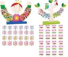 OROLOGI per Bambini Ragazzi Ragazze Display RICARICA GUFO PRINCESS colorata in legno epoca