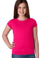 Next Level Girls Short Sleeve 100% Cotton Extreme Softness T-Shirt, 5-Pack. 3710