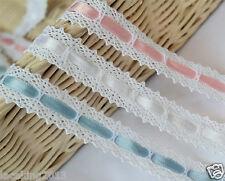 """1yards Torchon knit lace Crochet Trim 0.7""""(1.9cm) white YH015 laceking2013"""