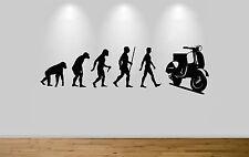 Vespa Evolution Wall Sticker Decal Bedroom Art Lambretta Evo Ape to Man