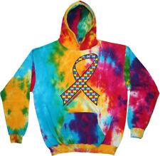 Autism Ribbon Tie Dye Hoodie