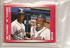 Ken Griffey Jr & Sr 1991 Star Company Seattle Mariners 11-card Baseball Set