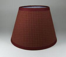 Country Primitive Burgundy Plaid Homespun Fabric Lampshade Lamp Shade
