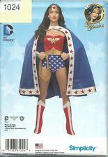 Simplicity 1024 Misses Cosplay WONDER WOMAN DC Comics Costume Pattern NEW