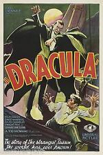 Dracula 1931 Movie Poster tela pared arte impreso Bela Lugosi Horror de película de vampiros