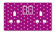 Púrpura lunares enchufe de Reino Unido Pegatinas Niños Dormitorio Sala de Estar Decoración Vivero