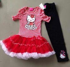 New Hello Kittty Tutu Dress Set Fairy Princess RRP$30 Size 4, 5, 6, 6x