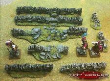 Stone Walls Set - 8 Pieces - Wargames Scenery Ruins Warhammer Fantasy Wall