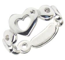 Corazón Anillo de plata esterlina 925 Varias Tallas: Damas amor San Valentín
