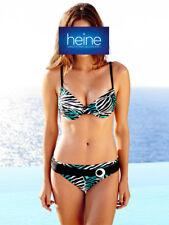 Bügel-Bikini Heine. Smaragd-weiß-schwarz. Cup D. NEU!!! KP 54,90 € SALE%%%