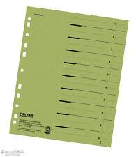 séparateur Papier Vert Registre déposants carton pour A4 Classeur (24x30) ~0,20